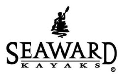Drawing of a person in kayak on water with the words Seaward Kayaks underneath (logo of Seaward Kayaks)