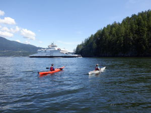kayaking with ferry