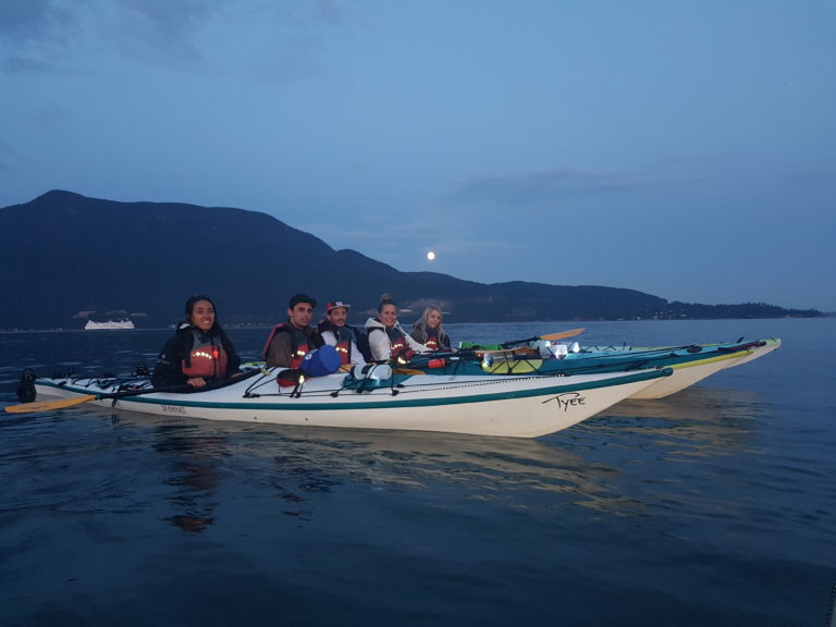 4 adults on full moon tour