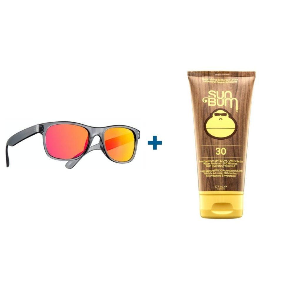 sunglasses + sunscreen