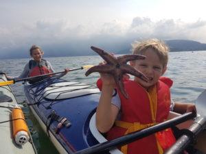 Boy with sea star